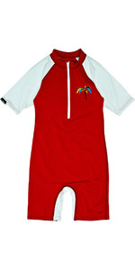 Billabong Jungle Toddler Short Sleeved Sun Suit in Fire Red M4KY11
