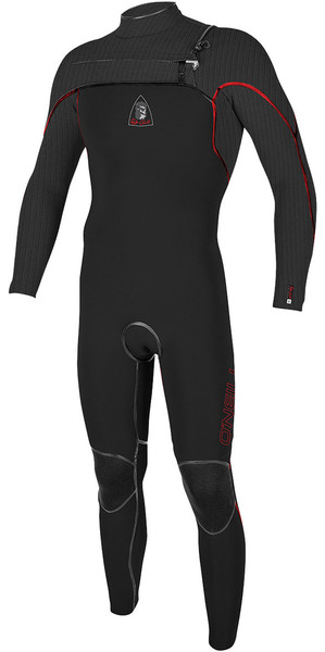 2018 Jack O'Neill Legend 4.5/3mm GBS Chest Zip Wetsuit Black / Red - LTD EDITION 5217