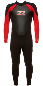 Billabong Junior Intruder 3/2mm Flatlock Wetsuit BLACK / RED S43B04