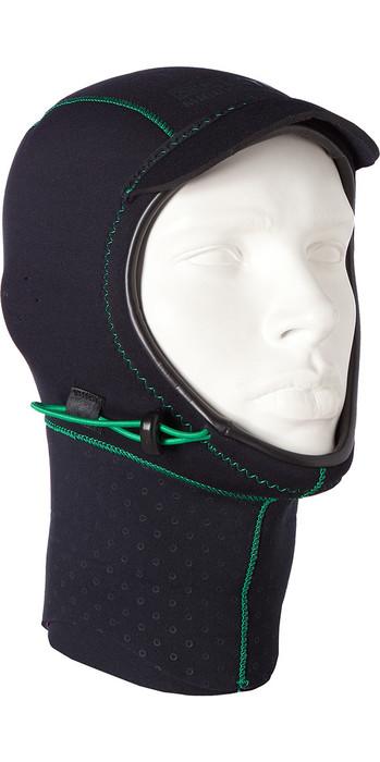 2019 Mystic Merino Wool 1.5mm GBS Neoprene Hood Black / Green 170115