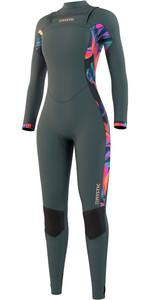 2021 Mystic Womens Dazzled 3/2mm Chest Zip Wetsuit 210079 - Dark Leaf