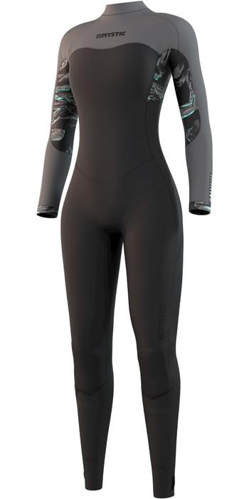 2021 Mystic Womens Dazzled 4/3mm Back Zip Wetsuit 210081 - Black