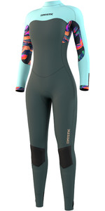 2021 Mystic Womens Dazzled 5/3mm Back Zip Wetsuit 210080 - Dark Leaf