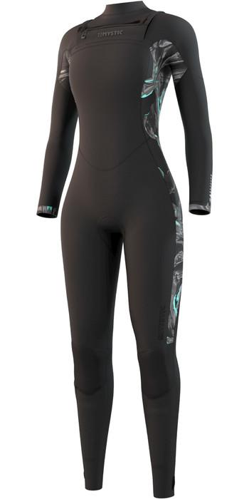 2021 Mystic Womens Dazzled 5/3mm Chest Zip Wetsuit 210078 - Black