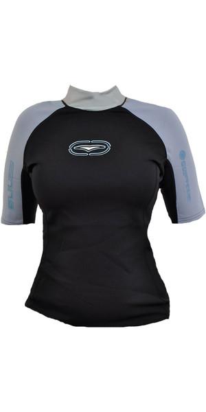 Gul Womens Contour Neoprene Short Sleeved Top 0.5mm Black / Blue UV7304