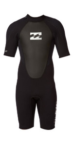 Billabong JUNIOR Intruder 2mm Back Zip Shorty Wetsuit Black S42B08