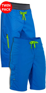 Palm Mens Spring & Summer Shorts: Horizon + Skyline Canoe / Kayak Shorts Blue