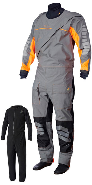 Crewsaver Phase 2 Front Zip Drysuit Grey / Orange + UNDERSUIT & Drybag 6923