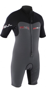 Gul Profile 3/2mm Front Zip Shorty Wetsuit Black / Graphite PR3309