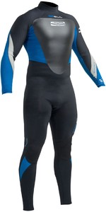 2019 Gul Response 5/3mm Back Zip GBS Wetsuit Black / Blue RE1213-B1