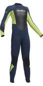 2020 Gul Junior Response 5/3mm Back Zip Wetsuit Navy / Lime RE1218-B1