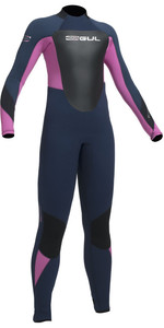 2020 Gul Junior Response 5/3mm Back Zip Wetsuit Navy / Pink RE1218-B1