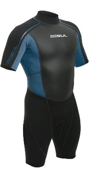Gul Response 3/2mm Junior Shorty Wetsuit Navy / Silver RE3303 - 2ND
