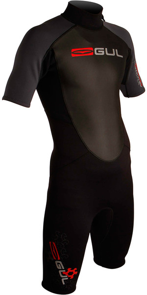 Gul Response 3/2mm Mens Shorty Wetsuit in Black / Graphite RE3319
