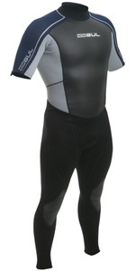 Gul Response 3mm Convertible Arm Wetsuit in NAVY / SILVER RE2302 - 2ND
