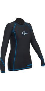Gul Womens Viper Recore Long Sleeve Thermal Rash Vest - Black RG0359