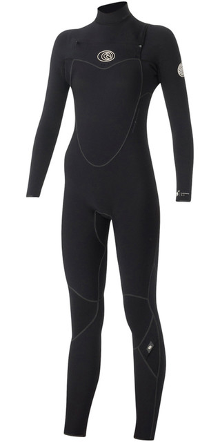 Rip Curl Womens Flashbomb 3/2mm Chest Zip Wetsuit Black Wsm5eg Picture