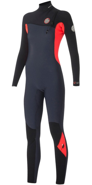 Rip Curl Womens G-bomb 4/3mm Gbs Zip-free Wetsuit Slate Wsm5ig Picture