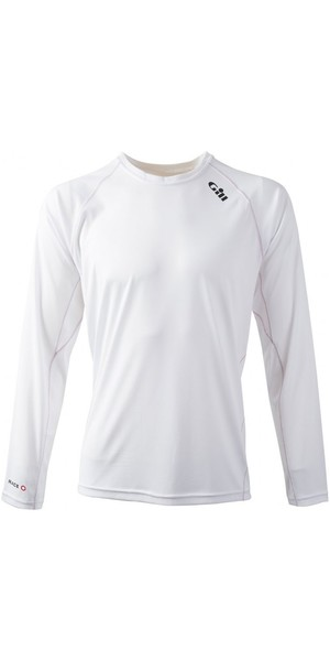 2018 Gill Race Long Sleeve T-Shirt WHITE RS07