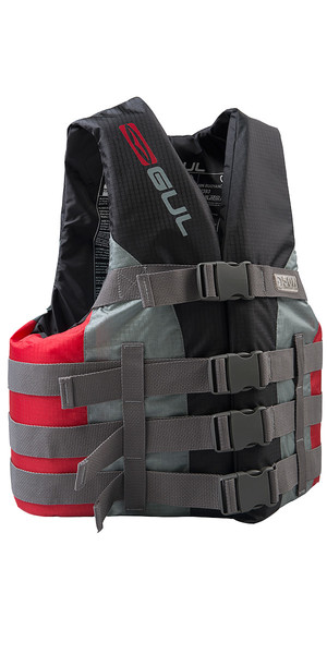 2019 Gul 50N 4 Buckle Impact Vest / Buoyancy Aid Black / Red SK7102-B4