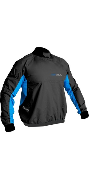 2019 Gul Mens Shore Taped Spray Top Black / Blue ST0030-B5