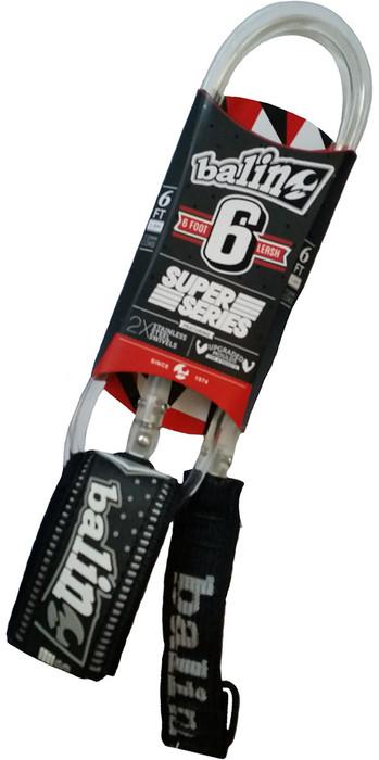 2020 Balin Super Series 7mm Double Swivel Leash Longboard - Clear - 6ft