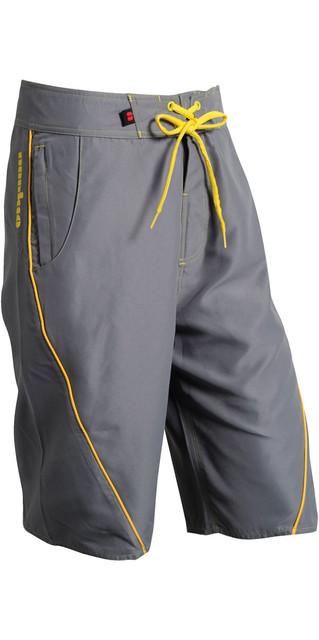 2019 Nookie Boardies Board Shorts Grey Yellow Sw03 Picture
