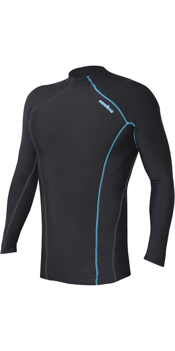 2020 Nookie Thermal Base Softcore Long Sleeve Top Dark Grey / Blue TH50