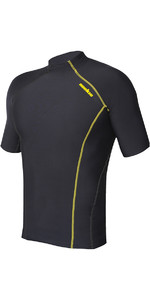 2020 Nookie Thermal Base Softcore Short Sleeve Top Black / Yellow TH50