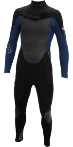 Billabong Solution CT 4/3 mm Zip Free Wetsuit Zwart / Ink Blauw U44M05 - 2ND