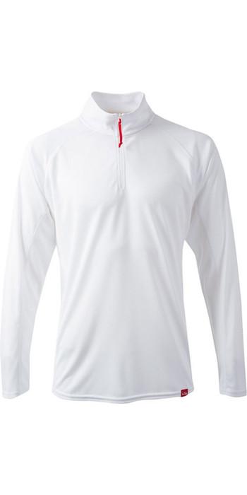 Gill Mens UV Tec Zip Neck Top in ARCTIC WHITE UV003