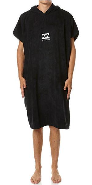 2018 Billabong Mens Vader Hooded Changing Robe / Poncho BLACK U4BR03