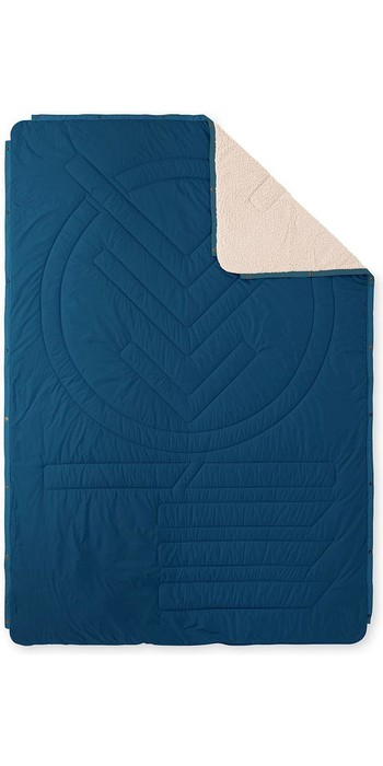 2021 Voited Recycled Cloudtouch Indoor / Outdoor Camping Pillow Blanket V20UN01BLCTC - Legion Blue