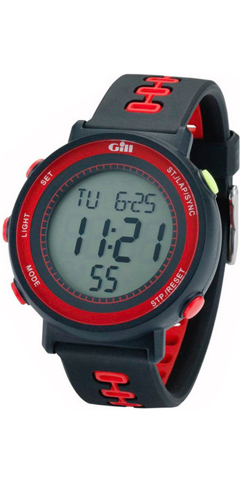 2021 Gill Race Watch Timer W013 - Black / Red