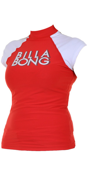Billabong JUNIOR Wash Away Rash vest in RED HOT P4KY09
