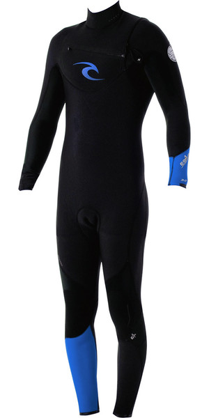 Rip Curl E-Bomb Pro 3/2mm GBS Chest Zip Wetsuit Black / Blue WSM4AE