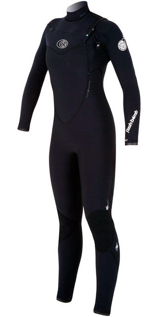 Rip Curl Womens Flashbomb 5/3mm Chest Zip Wsm4gg Wetsuit Black Picture