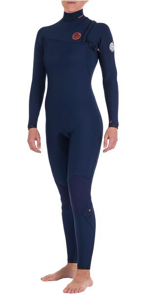 Rip Curl Womens G-Bomb 4/3mm GBS Zipperless Wetsuit Navy WSM4IG