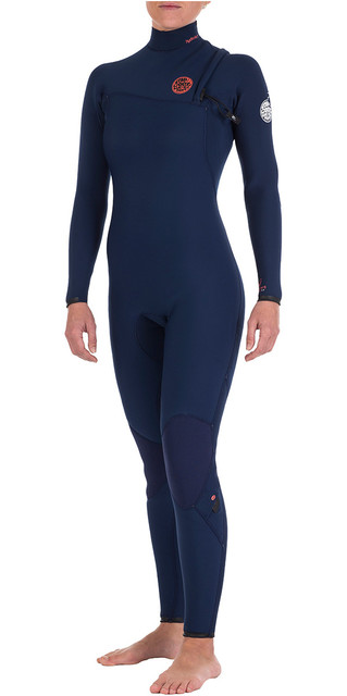 Rip Curl Womens G-bomb 4/3mm Gbs Zipperless Wetsuit Navy Wsm4ig Picture