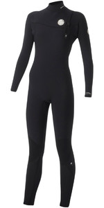 Rip Curl Womens G-Bomb 4/3mm Zip Free Wetsuit BLACK WSM5IG