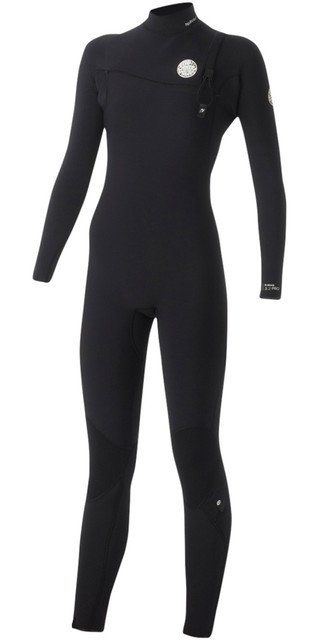 Rip Curl Womens G-bomb 4/3mm Zip Free Wetsuit Black Wsm5ig Picture
