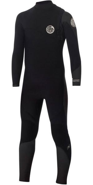 Rip Curl Junior Flash Bomb 3/2mm GBS Zip Free Wetsuit BLACK WSM5OB