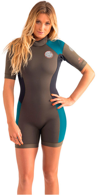 Rip Curl Dawn Patrol 2mm Back Zip Spring Shorty Wetsuit Fatigue Wsp4fw Picture