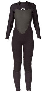 2019 Rip Curl Womens Omega 4/3mm Back Zip Wetsuit in Black WSM4CW