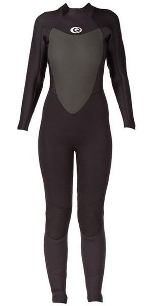 2018 Rip Curl LADIES Omega 3/2mm Back Zip GBS Wetsuit WSM4LW Black