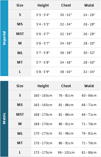 Animal Womens Wetsuits 19 Womens Size Chart