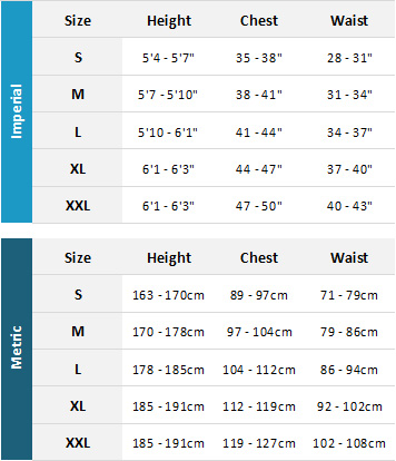 Crewsaver Mens Drysuits 19 Mens Size Chart