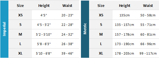Dryrobe Advance 19 0 Size Chart