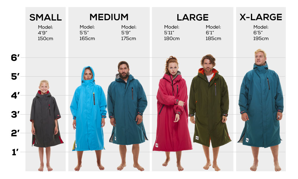 Red Paddle Pro Change Robes 22 0 Size Chart