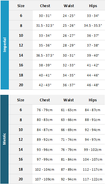 Gill Womens Wetsuits 19 Womens Size Chart